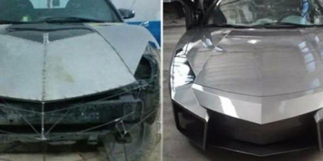 Mitsubishi marka arabasını Lamborghini'ye dönüştürdü