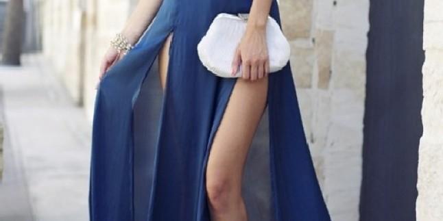 Yırtmaçlı elbise modelleri