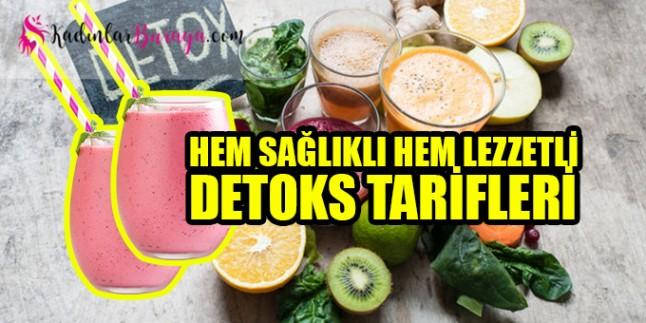 Detoks tarifi: Hem sağlıklı hem lezzetli tarifler
