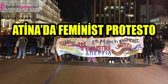 Atina'da sınırlara karşı feminist protesto